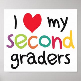 I Heart My Second Graders Teacher Love Poster