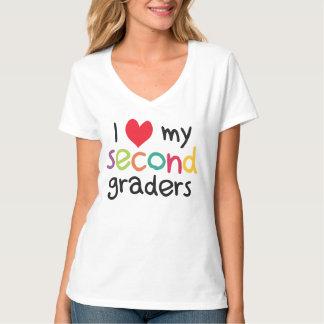 I Heart My Second Graders Teacher Love Tee Shirt