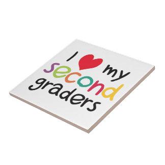 I Heart My Second Graders Teacher Love Ceramic Tile