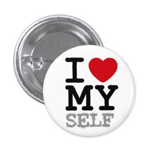 I heart my self pinback button