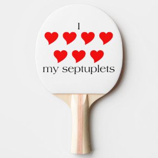 I Heart My Septuplets Ping Pong Paddle