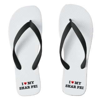 I Heart My Shar Pei Flip Flops