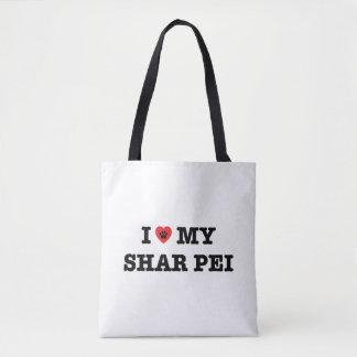 I Heart My Shar Pei Tote Bag