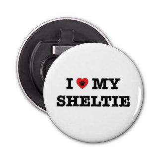 I Heart My Sheltie Bottle Opener Frigde Magnet