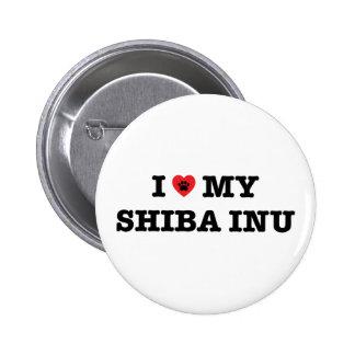 I Heart My Shiba Inu Button