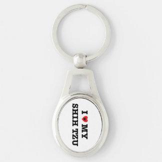 I Heart My Shih Tzu Keychain