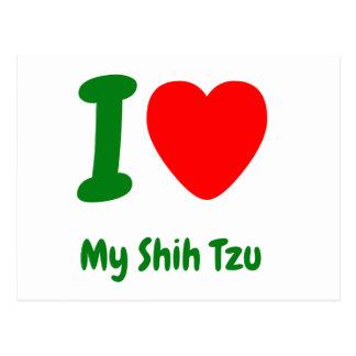 I Heart My Shih Tzu Postcard