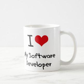 I heart My Software Developer Classic White Coffee Mug