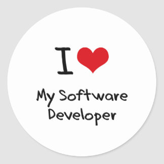 I heart My Software Developer Sticker