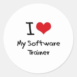 I heart My Software Trainer Round Stickers