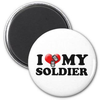I (Heart) My Soldier 2 Inch Round Magnet