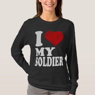 I Heart My Soldier Art Tee T-Shirts