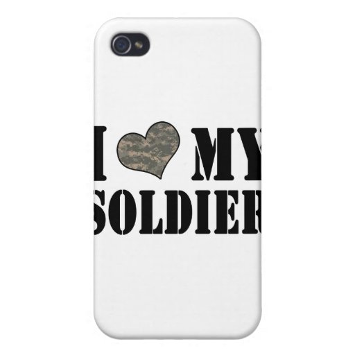 I Heart My Soldier Cases For iPhone 4