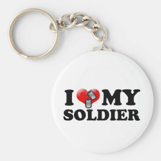 I (Heart) My Soldier Keychain