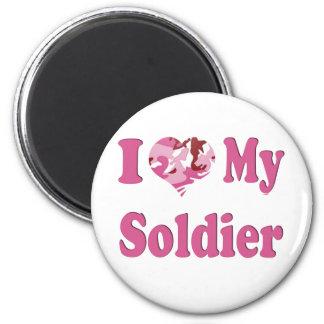 I Heart My Soldier 2 Inch Round Magnet