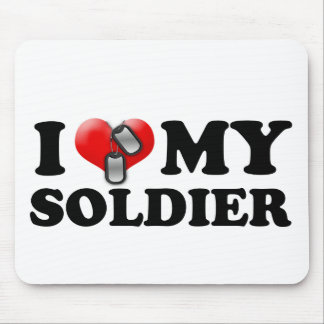 I heart my Soldier Mouse Pads