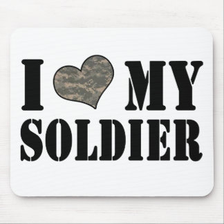 I Heart My Soldier Mouse Pad