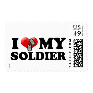 I heart my Soldier Postage Stamp