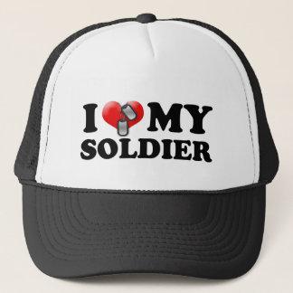 I (Heart) My Soldier Trucker Hat