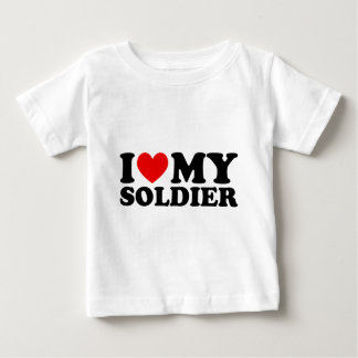 "I ""Heart"" My Solier Baby T-Shirt"