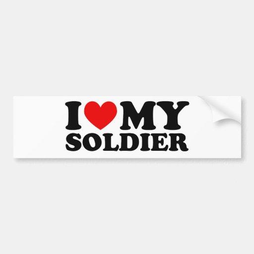 "I ""Heart"" My Solier Bumper Sticker"