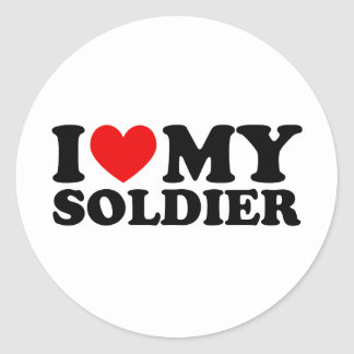 """I """"Heart"""" My Solier Classic Round Sticker"""