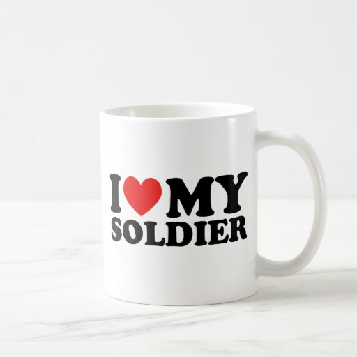 "I ""Heart"" My Solier Coffee Mug"