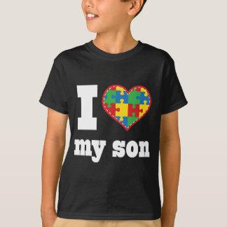 I Heart My Son Autism Puzzle Piece T-Shirt