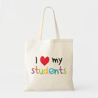I Heart My Students Teacher Love Budget Tote Bag