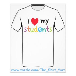 I Heart My Students Teacher Love Flyer