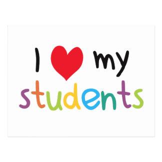 I Heart My Students Teacher Love Postcard