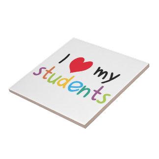 I Heart My Students Teacher Love Tile
