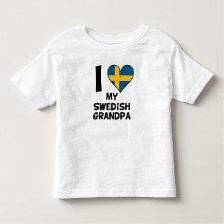 I Heart My Swedish Grandpa Toddler T-shirt