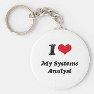 I heart My Systems Analyst Keychain