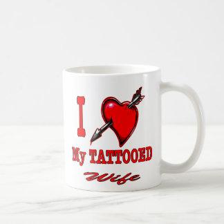 I (Heart) My Tattooed Wife Classic White Coffee Mug