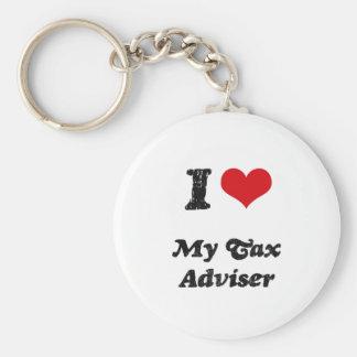 I heart My Tax Adviser Basic Round Button Keychain