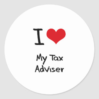 I heart My Tax Adviser Sticker
