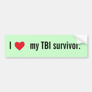 I [heart] my TBI survivor bumper sticker