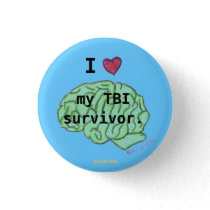 I [heart] my TBI survivor button