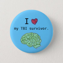 """I [heart] my TBI survivor"" button"