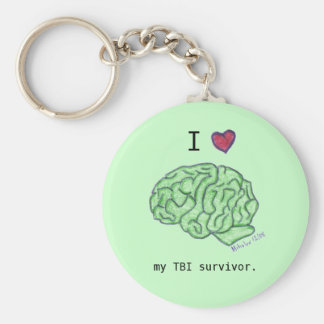 """I [heart] my TBI survivor"" keychain"