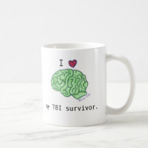 """I [heart] my TBI survivor"" mug"