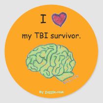 """I [heart] my TBI survivor"" sticker"