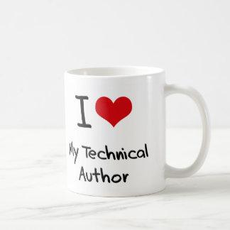 I heart My Technical Author Classic White Coffee Mug