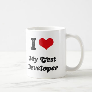 I heart My Test Developer Classic White Coffee Mug