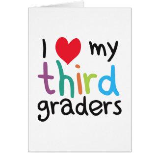 I Heart My Third Graders Teacher Love Card