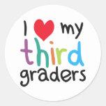 I Heart My Third Graders Teacher Love Classic Round Sticker