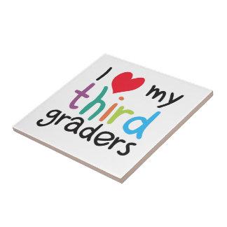 I Heart My Third Graders Teacher Love Ceramic Tile