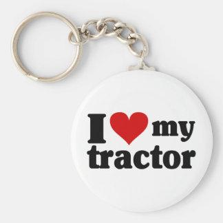 I Heart My Tractor Keychain