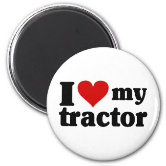 I Heart My Tractor Magnet